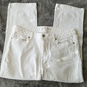 Michael Kors White Denim Size 6 Capri